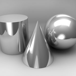 Geometric Still Life. 3D rendered image